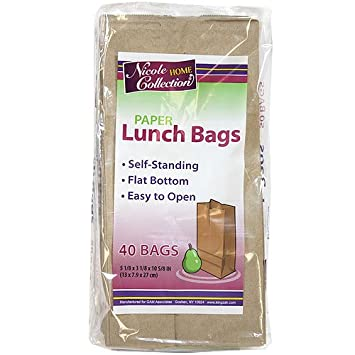 Nicole Home Collection 40-Count Paper Lunch Bags 01039