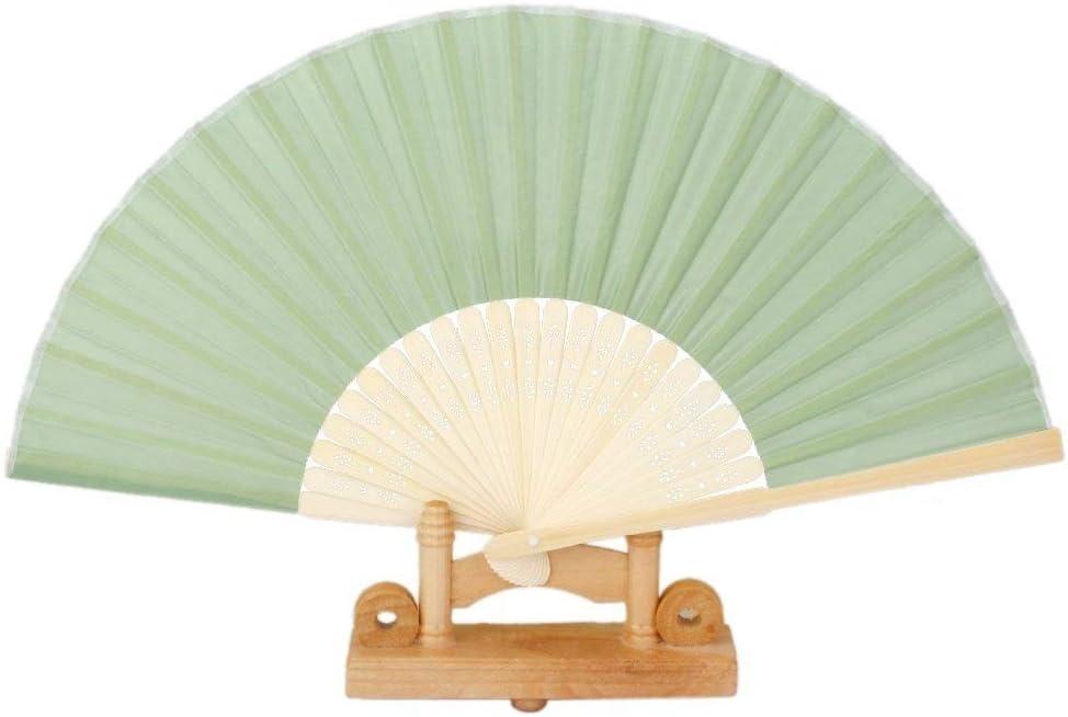 Naisidier pieghevole donne ventaglio DIY verde ventole con nappa da donna Hollowed Bamboo Hand Holding ventole per festa di nozze regalo