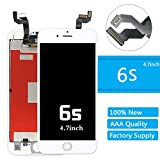 iPhone 6s Lcd Screen Replacement (4.7 Inch) Display Touch Digitizer Assembly Repair Kit by Mr Repair Parts (6s 4.7'' White)