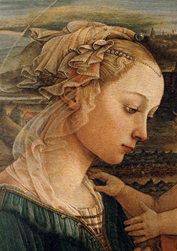 kunst für alle Art Print/Poster: Fra Filippo Lippi Madonna and Child with Two Angels Picture, Fine Art Poster, 23.6x33.5 inch / 60x85 cm (Fra Filippo Lippi Madonna And Child With Angels)