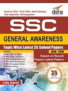 SSC General Awareness Topic wise Latest 35 Solved Papers  2010 2016  9789386323262 available at Amazon for Rs.82