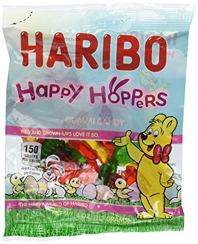 Haribo Happy Hoppers Gummy Candy 4oz (6-pack) ()