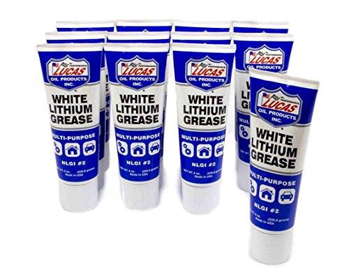 Lucas Oil 10533-12PK White Lithium Grease (12x8oz.), 1 - Lithium Based Soap Grease