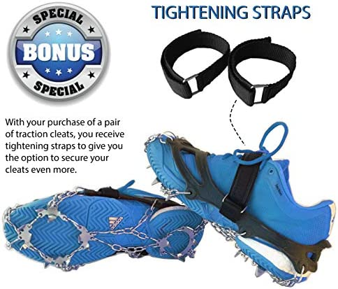 Limm Ice Cleats for Shoes and Boots - Shoe Traction Crampons Grips Over Footwear for Snow - Portable Microspikes