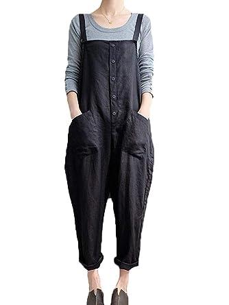 db66d3c97df8 Gooket Women Plus Size Baggy Overalls Casual Wide Leg Haren Pants Rompers  Jumpsuit Overalls Halloween Costume
