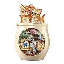 Kitten Cookie Jar: Kitchen Comforts Cat Cookie Jar by The Bradford Exchange