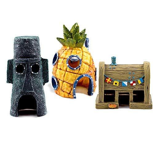 - JAMOR Spongebob 3 Piece Collection Pineapple House Octopus House Krusty Krab (3)