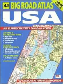 AA Big Road Atlas USA 2017 (Aa Road Atlas), AA Publishing, Used; Good Book