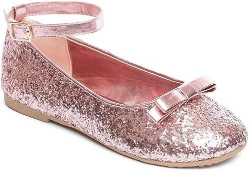 GladRags Mädchen Ballerina Schuhe mit Glitzer Ballerina Motiv, Gr. 1011 1213 12