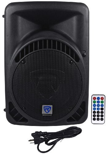 "Rockville RPG12BT 12"" Powered 800W DJ PA Speaker BlueTooth, USB, SD, EQ, Remote"
