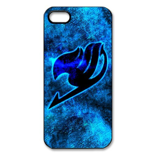iPhone 5 case, anime Fairy Tail logo with trendy color Style hard PC Case for iPhone 5S