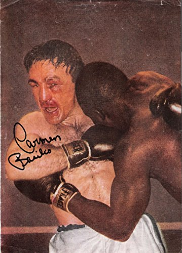 Basilio Boxer Carmen (CARMEN BASILIO (PRO BOXER) Signed 8x12 MAGAZINE SHEET - Autographed Boxing Magazines)