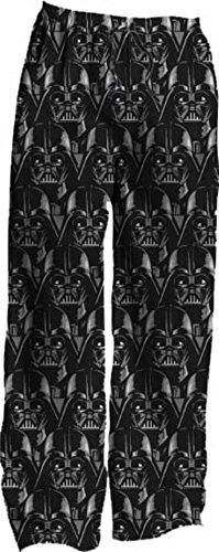 Star Wars Darth Vader Faces Adult Lounge Pajama Sleep Pants (Large) (Darth Vaders Face)