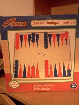 Classic Backgammon Set by Wood 'N Things