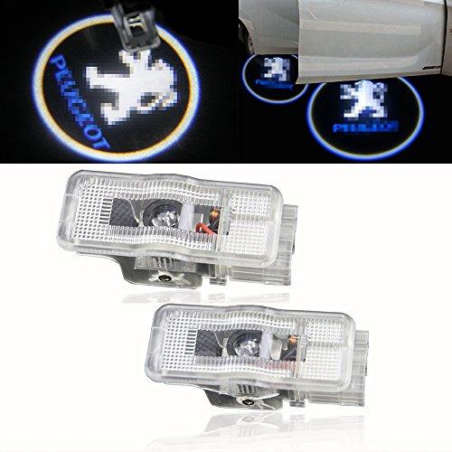 - 2 Pcs Car LED Courtesy Logo Light Peugeot Welcome Lamp Auto Step Light For Peugeot 307 308 508 408 RCZ 206 306 207 208 406 5008 607 806 807(PEUGEOT)