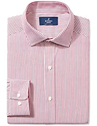 Men's Classic Fit Spread-Collar Pattern Non-Iron Dress Shirt