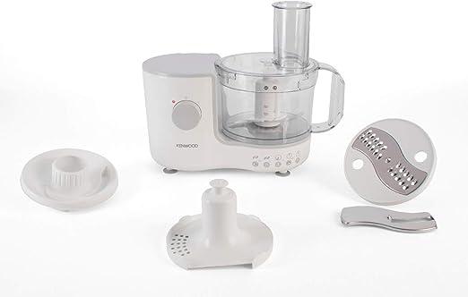 Kenwood FP120 400W 1.4L Gris, Color blanco - Robot de cocina (1,4 L, Gris, Blanco, Botones, Giratorio, De plástico, De plástico, 400 W): Amazon.es: Hogar