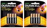 Duracell Alkaline AAA Battery with Duralock Technology - 8 Pieces