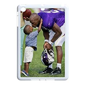 3D Yearinspace Adrian Peterson, Get A Kiss From His Son Case For IPad Mini 2D Antislip, Ipad Mini Case Kids Shock Proof Protective For Girls With White by ruishername