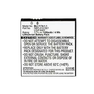 LG Qantum Cell Phone Battery (Li-Ion 3.7V 1100mAh) Rechargable Battery - Replacement For LG C900 Cellphone Battery