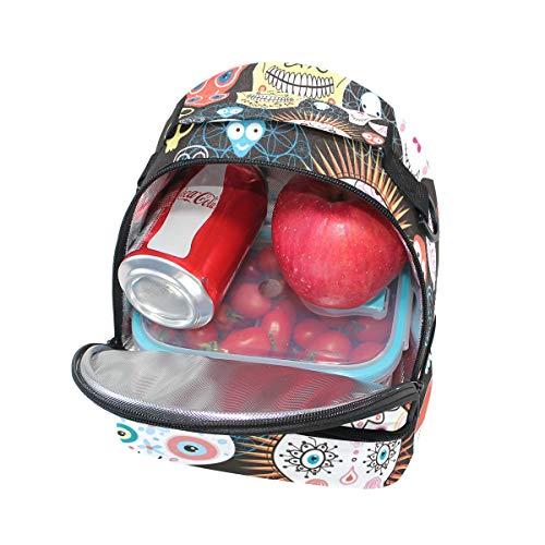 pour Cooler bandoulière sucre à à Sac Tote mort Folpply avec Pincnic l'école de isotherme Tête Boîte Jour du réglable lunch qPn4Awa6B