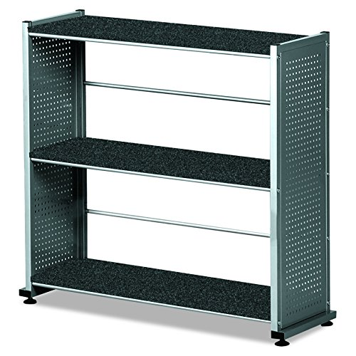Mayline MLN993ANT Soho Bookcase, Anthracite Thermofoil ()