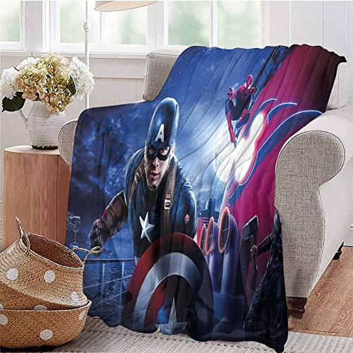 HouseDecor Personalized Blankets Captain America Thor Iron Man Spiderman Disneyland Paris Disney Cruise U Sofa Adult Travel Fleece Blanket Winter 70X60 Inch