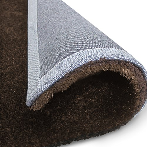 Superior Elegant Shag Rug, Plush and Cozy Hand Tufted Area Rugs, Chic and Contemporary Eyelash Shag Rug with Cotton Backing - 8' x 10' Rug, Cocoa