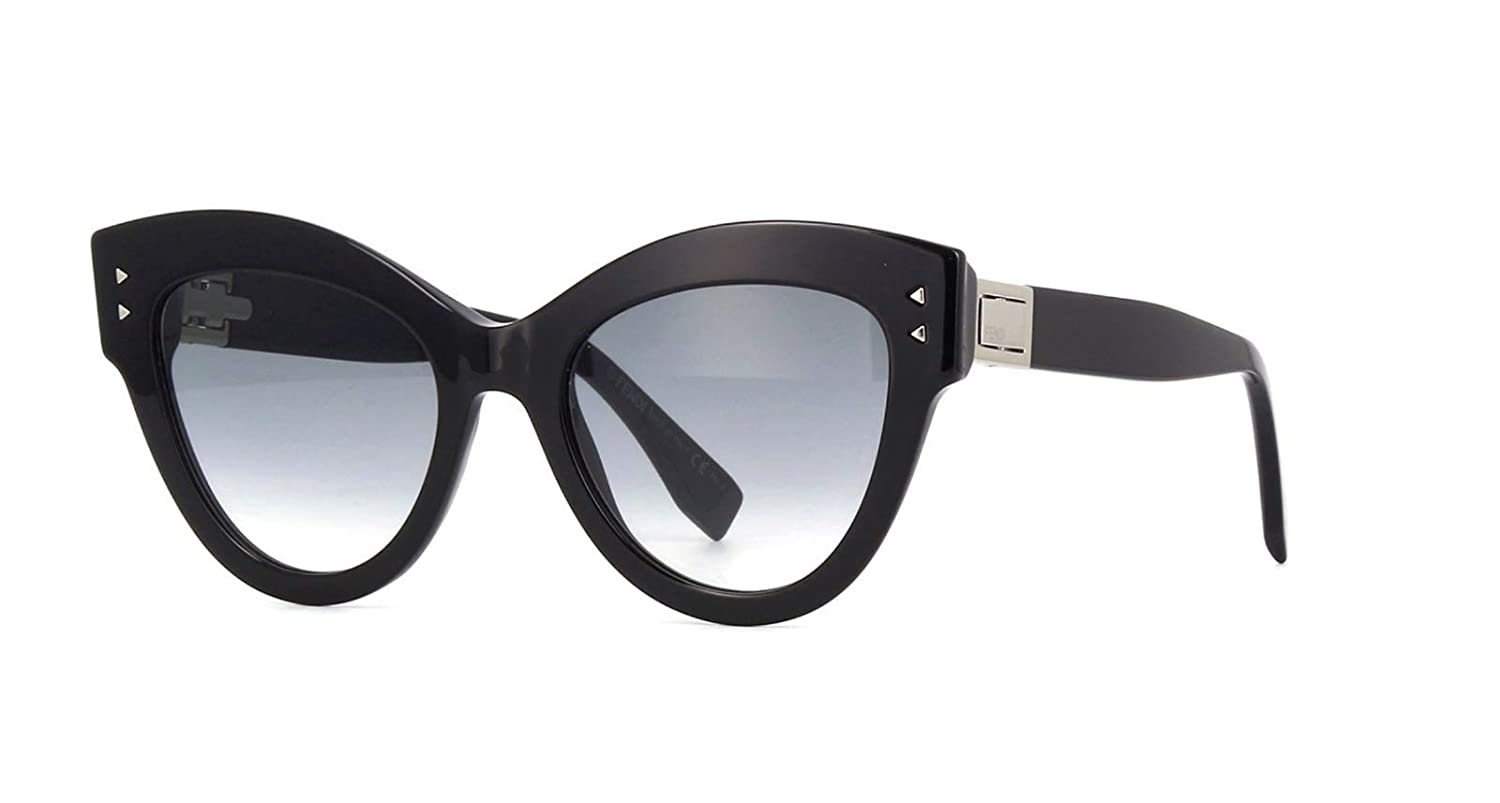 New Fendi PEEKABOO FF 0266 S 807 9O Black Grey Sunglasses