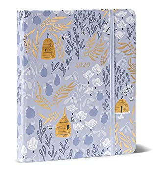High Note 2020 Planner - Hardcover 18-Month 2020 Weekly Planner: July 2019 - December 2020 - Garden Honeybee Floral in Gold 7