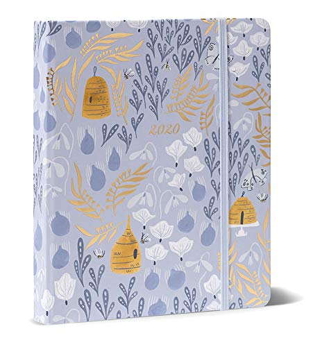 High Note 2020 Planner - Hardcover 18-Month 2020 Weekly Planner: July 2019 - December 2020 - Garden Honeybee Floral in Gold 7