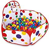 Kids Ball Pool, Ball Pit House Hideaway Pop-Up Play Tent Cubby House - Outdoor Play Tent Pit Ball Pool and Children Indoor Outdoor (Single Ball Pool 40Inch)