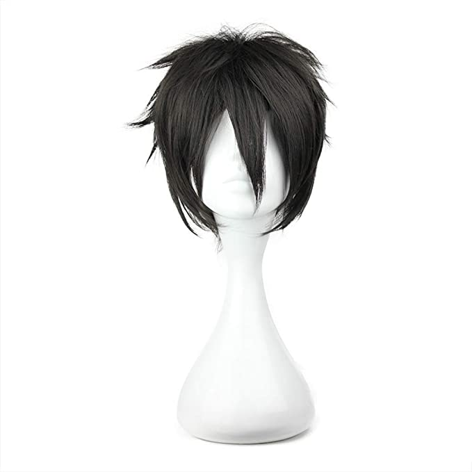 Unisex Schwarz Cosplay Anime Perücke Wig Haarnetz Cap Hair Z8V1 Haube F2I6
