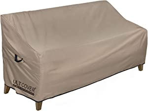 ULTCOVER Waterproof Outdoor Sofa Cover Durable Patio Loveseat Bench Covers 86W x 30D x 35H inch