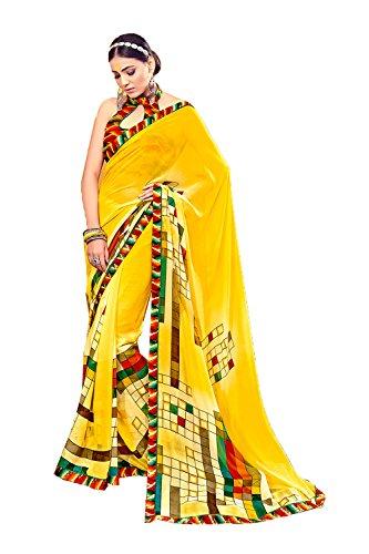 Giallo 7 Di 7 Indian Party Indiani Yellow Progettista Da Wedding Sari Indossare Designer Women Per Facioun Traditional Nozze Donne Wear Le Sarees Sari Da For Facioun Partito Tradizionale Sari pFqwAf