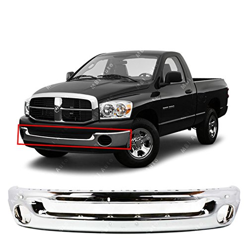 MBI AUTO - Chrome Steel, Front Bumper Face Bar for 2002-2008 Dodge RAM 1500 & 2003-2009 Dodge RAM 2500 3500 Pickup, CH1002383 (2002 Bumper)
