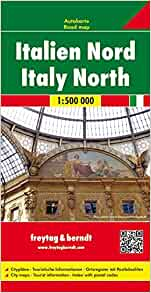 By Freytag & Berndt Italy, Northern Map (English, French