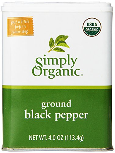 Simply Organic Pepper Tin, 4 Ounce