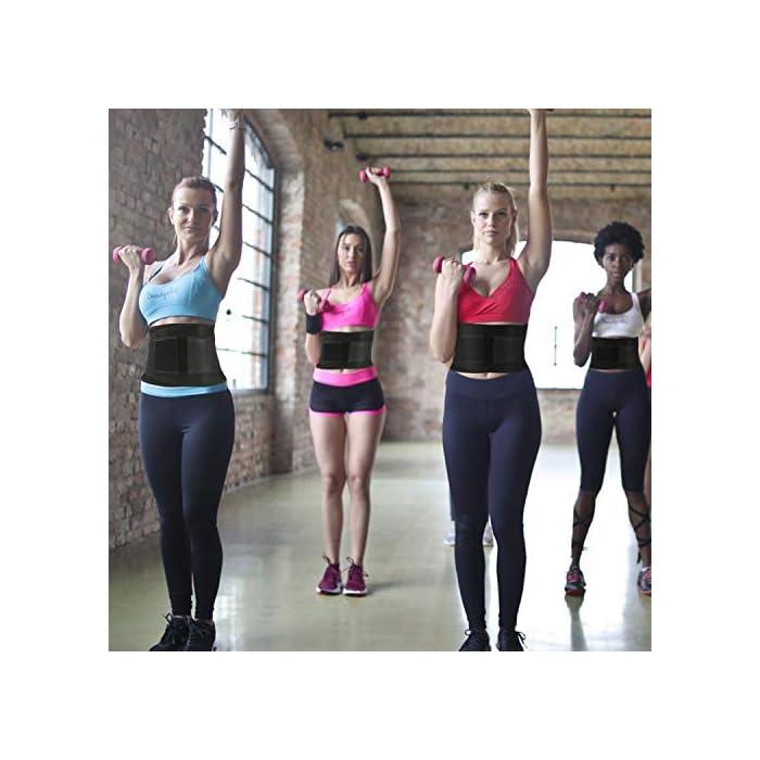 51Q8VNaaY1L ▶ STIMULATE FAT BURN LOSE PESO ---- El reductor de la cintura para adelgazar de las mujeres aumenta el calor del cuerpo para promover la transpiración durante sus actividades deportivas. Maximice su quemadura y pierda esa grasa abdominal rápidamente conservando el calor corporal y eliminando el exceso de peso del agua, especialmente en su área abdominal con esta envoltura estomacal. Cintura adecuada: 85-89 cm. ▶ SOPORTE DE RESPALDO MANTENGA SALUDABLE --- Aumente el velcro y los 4 huesos de acrílico reforzados encerrados en un lienzo grueso en la parte posterior ofrecen compresión abdominal instantánea y soporte lumbar; Cinturón de fitness proporciona compresión para apoyar la espalda baja y los músculos abdominales. Le permite tener el soporte adecuado y evitar el dolor y promover el fortalecimiento muscular en las áreas lumbar y abdominal, mejorar la postura y estabilizar la columna vertebral. ▶ CINTURÓN DE BODA PARA ENTRENAMIENTO DE ENTRENADOR DE CINTURA ---- Fabricado con un tejido suave y elástico de alta calidad, hecho para durar y adaptarse a la forma de su cuerpo sin irritar su piel. El cierre de velcro permite el ajuste de acuerdo con el tamaño, para una mayor comodidad y transpirabilidad. Excelente para el corsé de abdomen.