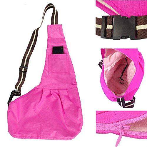 Pet Dog Puppy Cat Carrier Bag Oxford Cloth Sling Dog Doggy Cat Carrier Single Shoulder Bag-Small,Pink