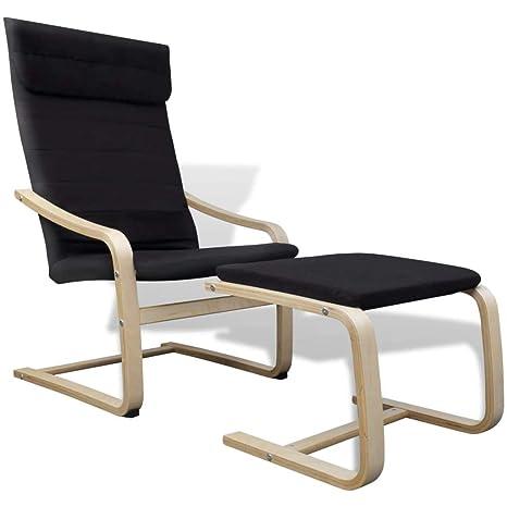 Xinglieu sillón con Estructura Curvado y Tejido Negro sillón ...