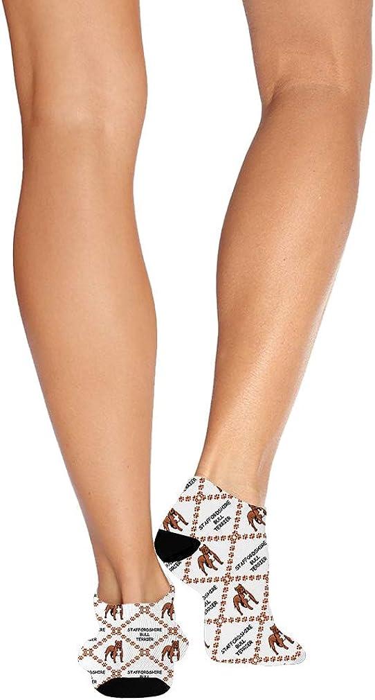 Staffordshire Bull Terrier Dog Pattern #1 Men-Women Adult Ankle Socks