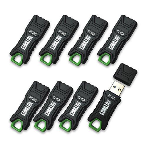 GorillaDrive 3.0 Ruggedized 32GB USB Flash Drive (8-Pack) ()