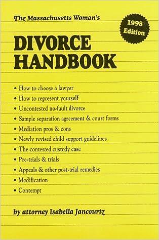 The massachusetts womans divorce handbook isabella jancourtz the massachusetts womans divorce handbook isabella jancourtz 9780961863234 amazon books solutioingenieria Images