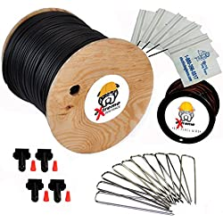 2000' eXtreme ProGrade Complete Boundary Kit 14 Gauge for Underground Hidden Dog Fence - Kit Includes: 2000ft of eXtreme Brand 14-Gauge Perimeter Wire, 50ft of Pro-Grade Twisted Wire, 100 ElectricDogFence Flags, 4 Pro-Grade Wire Splices and 50 Ground Wire Staples