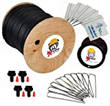 2000' eXtreme ProGrade Complete Boundary Kit 14 Gauge for Underground Hidden Dog Fence - Kit Includes: 2000ft of eXtreme Brand 14-Gauge Perimeter Wire, 100ft of Pro-Grade Twisted Wire, 100 ElectricDogFence Flags, 6 Pro-Grade Wire Splices and 100 Ground Wire Staples
