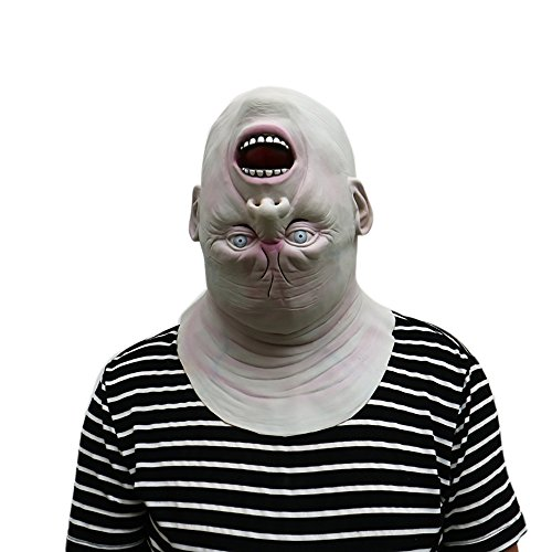 2017 Down Full Head Deluxe Novelty Halloween Scary Costume Party Latex Head Mask]()