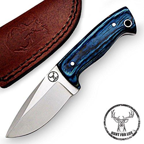Hunt-For-Life-Blue-Grain-Legacy-Stainless-Steel-Full-Tang-Skinner-Knife