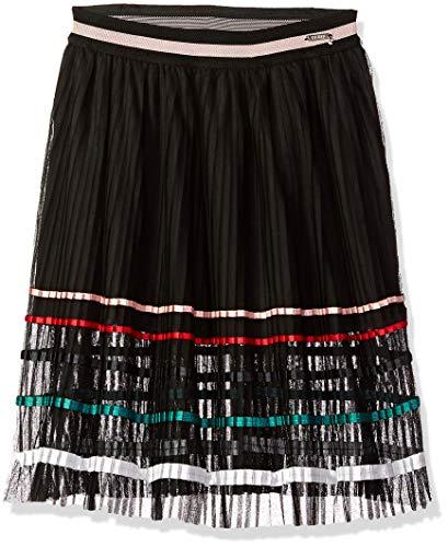 GUESS Girls' Big Multi Stripe Maxi Skirt, Jet Black a 16 ()