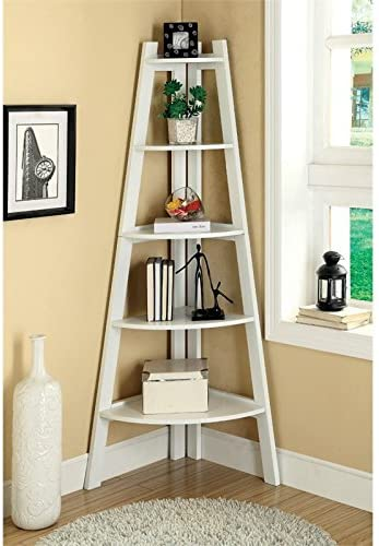 Bowery Hill 5-Shelf Corner Wood Bookcase Review